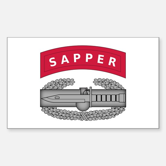 Combat Action Badge w Sapper Tab Decal