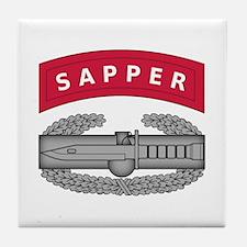 Combat Action Badge w Sapper Tab Tile Coaster