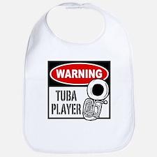 Warning Tuba Player Bib
