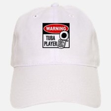 Warning Tuba Player Baseball Baseball Cap