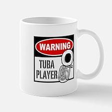 Warning Tuba Player Mug
