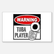 Warning Tuba Player Decal