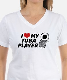 I Love My Tuba Player Shirt