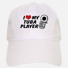 I Love My Tuba Player Baseball Baseball Cap