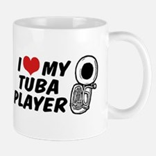 I Love My Tuba Player Mug