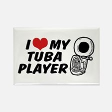 I Love My Tuba Player Rectangle Magnet