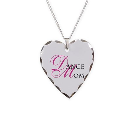 Dance Mom Necklace Heart Charm
