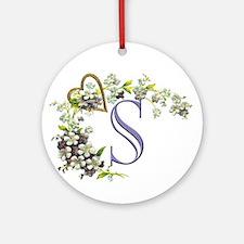 S Ornament (Round)