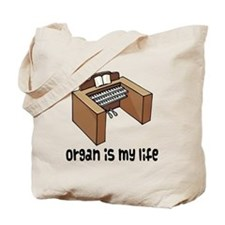Organ Music Quote Tote Bag