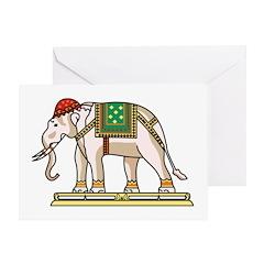 Siam Elephant Flag Greeting Card