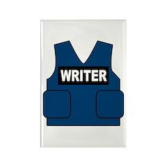 Castle Writer Vest Rectangle Magnet