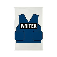 Castle Writer Vest Rectangle Magnet