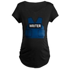 Castle Writer Vest Maternity Dark T-Shirt
