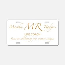 Martha Rodgers Aluminum License Plate