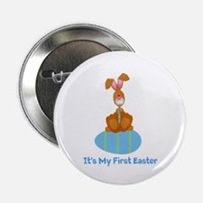 "Customizable 1st Easter (blue 2.25"" Button"