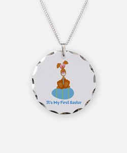 Customizable 1st Easter (blue Necklace