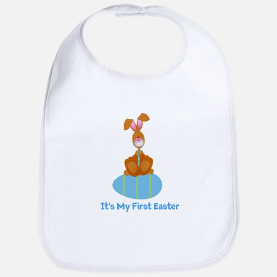 Customizable 1st Easter (blue Bib