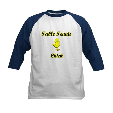 Table Tennis Chick Kids Baseball Jersey