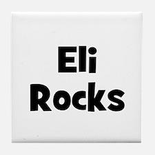 Eli Rocks Tile Coaster