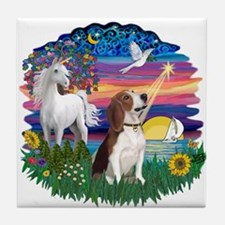 Magical Night Beagle#2B Tile Coaster