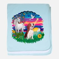 Magical Night Beagle#2B baby blanket