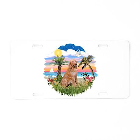 Palms-Golden#1 Aluminum License Plate