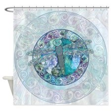 Cool Celtic Dragonfly Shower Curtain