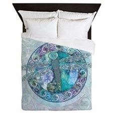 Cool Celtic Dragonfly Queen Duvet Cover