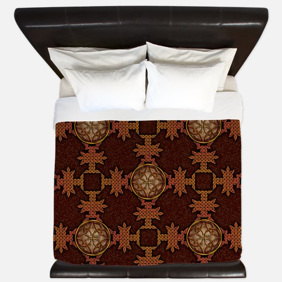 Celtic Knotwork Enamel King Duvet Cover