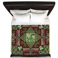 Celtic Dragon Labyrinth King Duvet Cover