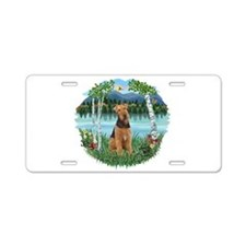 Birches / Airedale #1 Aluminum License Plate