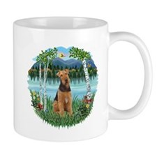 Birches / Airedale #1 Small Mug