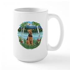 Birches / Airedale #1 Mug