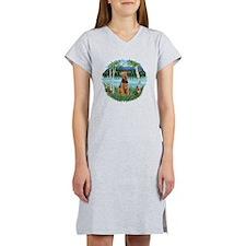 Birches / Airedale #1 Women's Nightshirt
