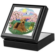 Blossoms / Airedale #5 Keepsake Box
