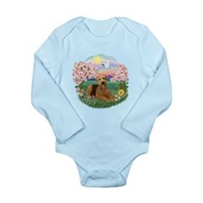 Blossoms / Airedale #5 Long Sleeve Infant Bodysuit