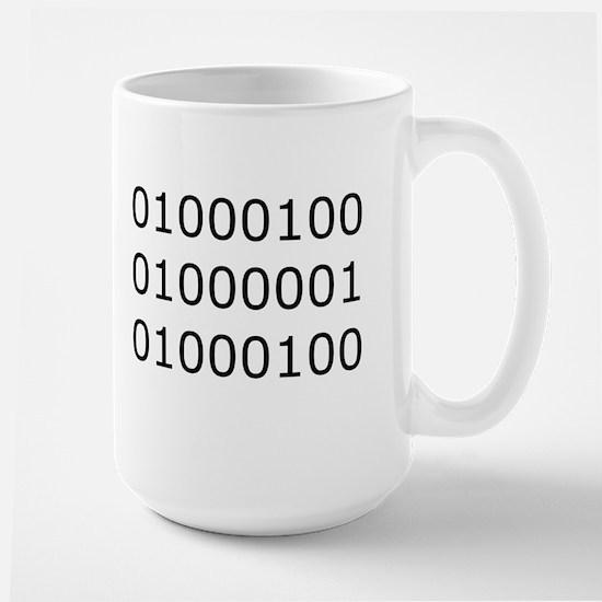 Dad in Binary Large Mug