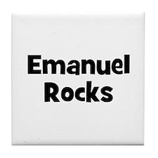 Emanuel Rocks Tile Coaster