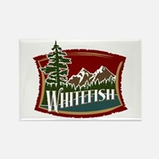 Whitefish Mountain Rectangle Magnet