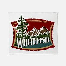 Whitefish Mountain Throw Blanket