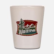 Whitefish Mountain Shot Glass