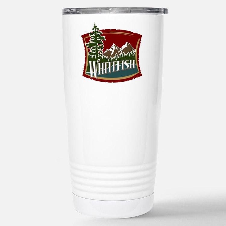 Whitefish Mountain Stainless Steel Travel Mug
