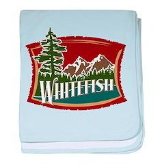Whitefish Mountain baby blanket