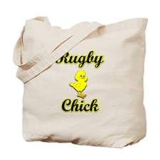 Rugby Chick Tote Bag