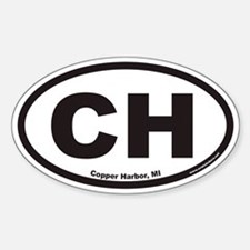 Copper Harbor Michigan CH Euro Oval Decal