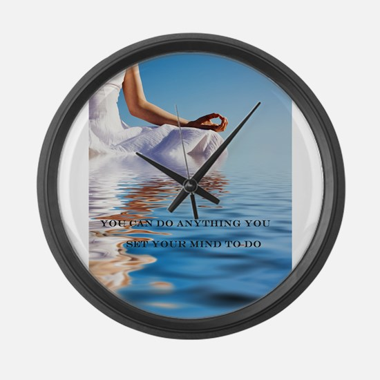 You Can Do Anything Affirmati Large Wall Clock