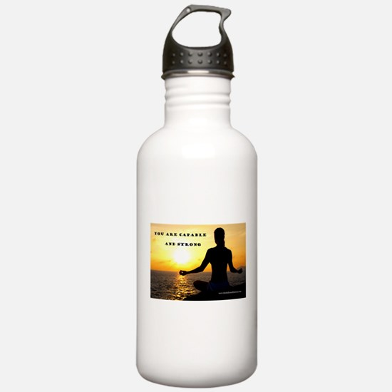 You Are Capable and Strong Af Water Bottle