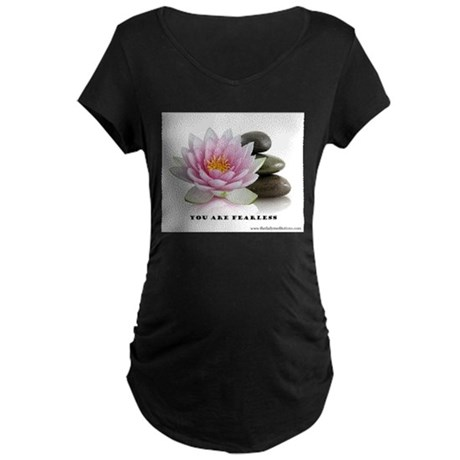 You Are Fearless Affirmation Maternity Dark T-Shir