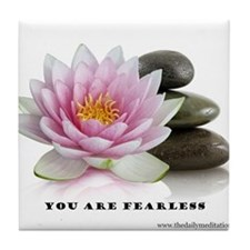 You Are Fearless Affirmation Tile Coaster