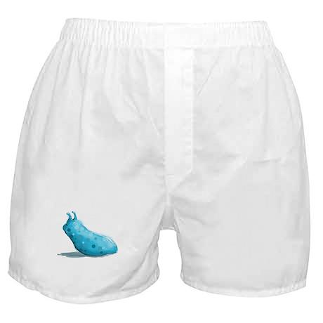 Blue Cute Baby Slug Boxer Shorts